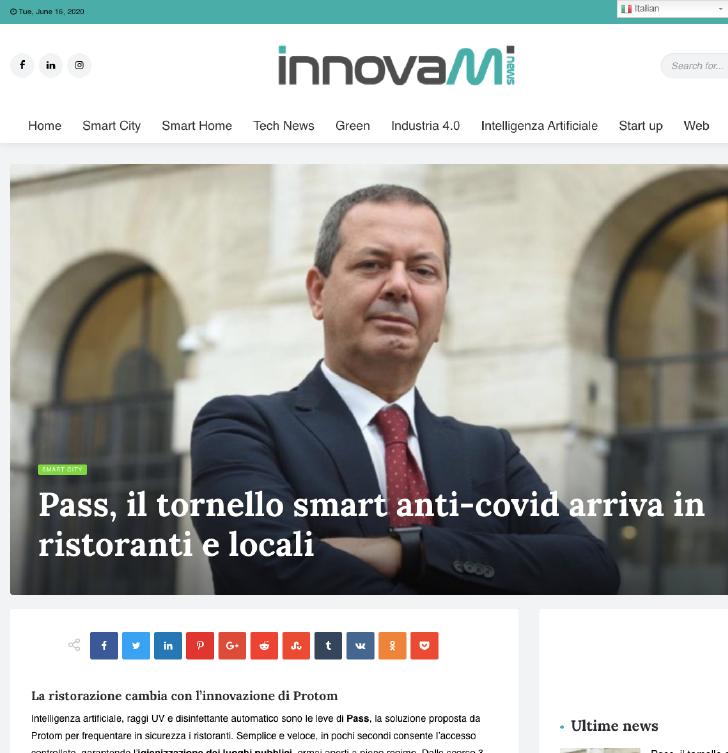 Pass, il tornello smart anti Covid arriva in ristoranti e locali