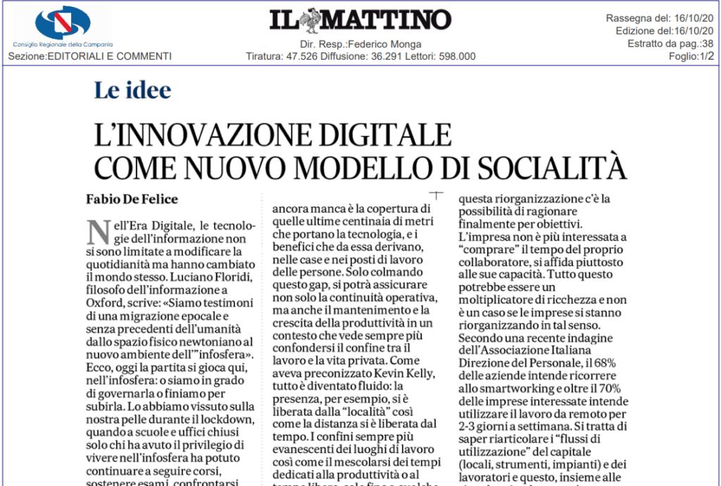 L'innovazione digitale come nuovo modello di socialità